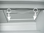 トヨタ プリウスα グローブボックスのパネル